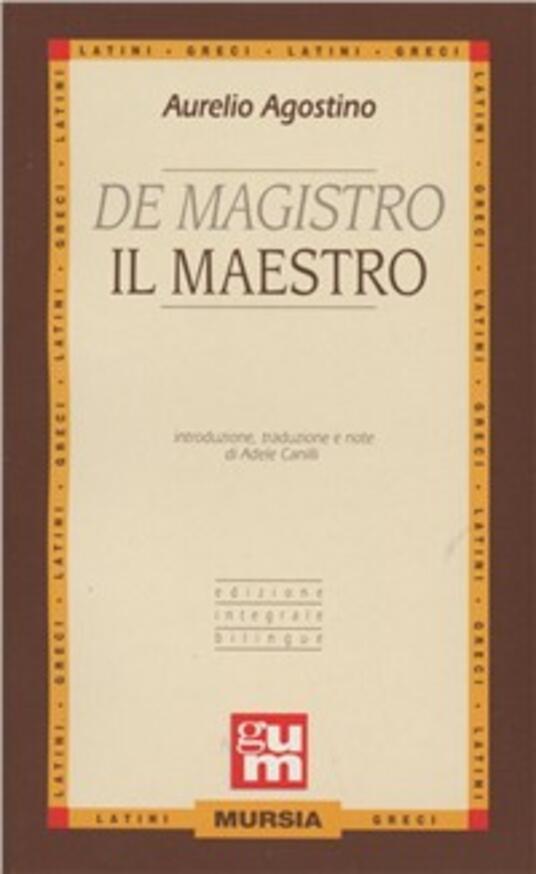 De magistro-Il maestro - Agostino (sant') - copertina