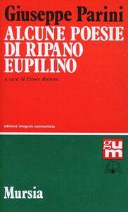 Libro Alcune poesie di Ripano Eupilino Giuseppe Parini