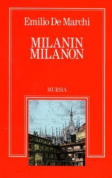 Milanin Milanon - Emilio De Marchi - copertina