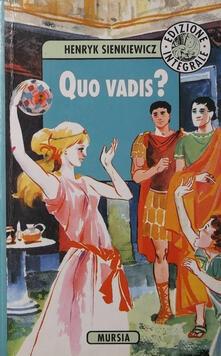 Quo vadis? - Henryk Sienkiewicz - copertina