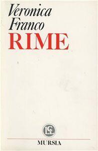 Foto Cover di Rime, Libro di Veronica Franco, edito da Ugo Mursia Editore