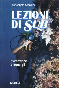 Libro Lezioni di sub Annapaola Avanzini