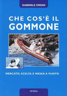 Che cos'è il gommone - Gabriele Orsini - copertina