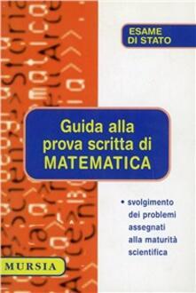 Guida alla prova scritta di matematica - copertina