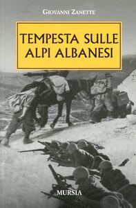 Tempesta sulle alpi albanesi