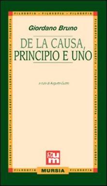 De la causa, principio e uno - Giordano Bruno - copertina