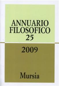 Libro Annuario filosofico 2009. Vol. 25