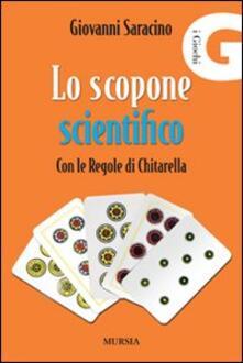 Lo scopone scientifico con le regole di Chitarella - Giovanni Saracino - copertina