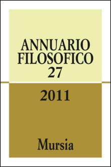 Annuario filosofico 2011. Vol. 27 - copertina