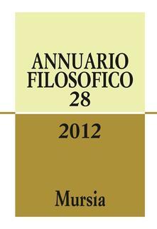 Annuario filosofico 2012. Vol. 28 - copertina