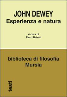 Esperienza e natura - John Dewey - copertina
