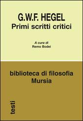 Primi scritti critici