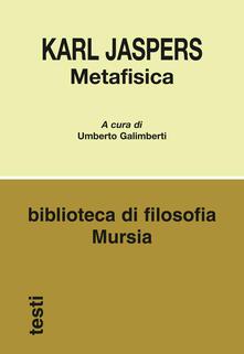 Metafisica - Karl Jaspers - copertina