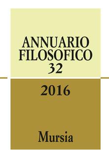 Equilibrifestival.it Annuario filosofico 2016. Vol. 32 Image