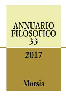 Osteriacasadimare.it Annuario filosofico 2017. Vol. 33 Image