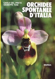 Orchidee spontanee d'Italia - Giuseppe Tosi,Carlo Del Prete - copertina