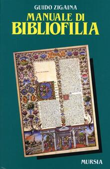 Osteriacasadimare.it Manuale di bibliofilia Image