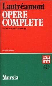 Libro Opere Isidore Lautréamont Ducasse