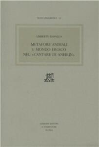 Metafore animali e mondo eroico nel «cantare di Aneirin»