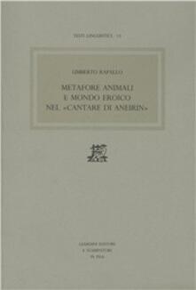 Metafore animali e mondo eroico nel «cantare di Aneirin» - Umberto Rapallo - copertina