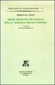 Libro Primi principi metafisici della scienza della natura Immanuel Kant