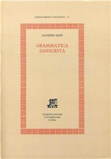 Grammatica sanscrita - Saverio Sani - copertina