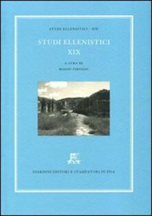 Studi ellenistici. Vol. 19 - copertina