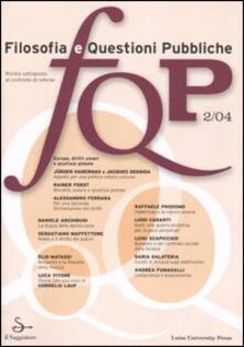 FQP. Filosofia e questioni pubbliche (2004). Vol. 2 - copertina