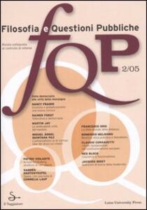 FQP. Filosofia e questioni pubbliche (2005). Vol. 2
