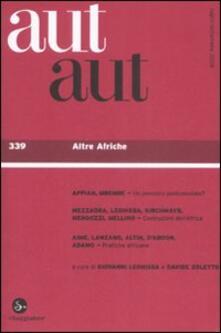 Osteriacasadimare.it Aut aut. Vol. 339: Altre afriche. Image
