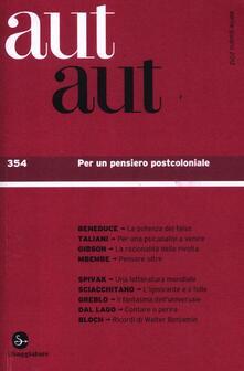 Daddyswing.es Aut aut. Vol. 354: Per un pensiero postcoloniale. Image