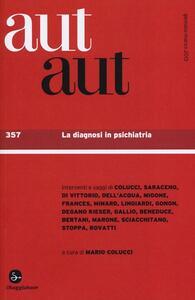 Aut aut. Vol. 357: La diagnosi in psichiatria. - copertina