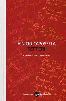 Tefteri. Il libro dei conti in sospeso - Vinicio Capossela - copertina