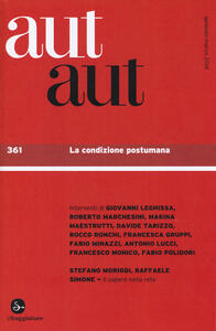 Aut aut. Vol. 361: La condizione postumana. - copertina