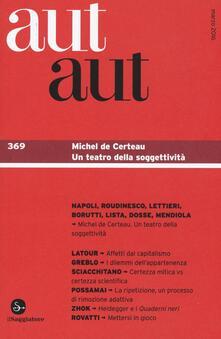 Aut aut. Vol. 369 - copertina