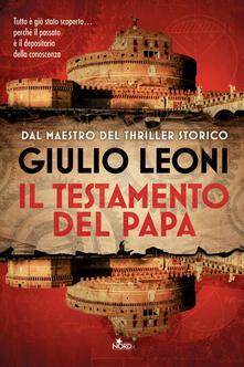 Il testamento del papa - Giulio Leoni - copertina