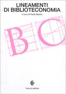 Lineamenti di biblioteconomia - copertina