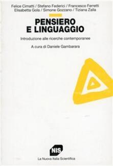 Cefalufilmfestival.it Pensiero e linguaggio. Introduzione alle ricerche contemporanee Image
