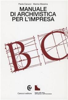 Camfeed.it Manuale di archivistica per l'impresa Image