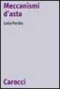 Libro Meccanismi d'asta Lucia Parisio