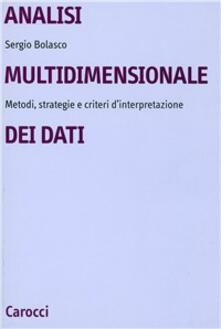 Ristorantezintonio.it Analisi multidimensionale dei dati. Metodi, strategie e criteri d'interpretazione Image
