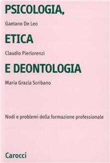 Voluntariadobaleares2014.es Psicologia, etica e deontologia. Nodi e problemi della formazione professionale Image