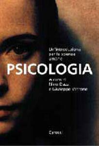 Foto Cover di Psicologia. Introduzione per le scienze umane, Libro di  edito da Carocci