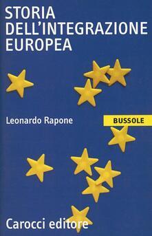 Storia dell'integrazione europea - Leonardo Rapone - copertina