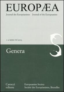Recuperandoiltempo.it Europea. Journal des Européanistes-Journal of the Europeanists (2003) vol. 1-2 Image