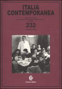 Italia contemporanea. Vol. 232