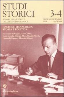 Studi storici (2003) vol. 3-4 - copertina