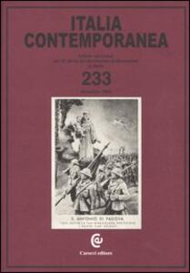 Italia contemporanea. Vol. 233