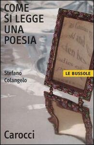 Libro Come si legge una poesia Stefano Colangelo