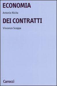 Libro Economia dei contratti Antonio Nicita , Vincenzo Scoppa